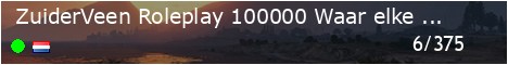 🌎 ZuiderVeen Roleplay | 💳€100.000 | 👦🏻 Waar elke burger tot leven komt! |